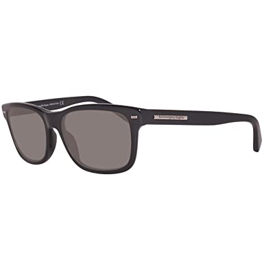 Amazon.com: Ermenegildo Zegna Sunglasses Ez0001 01d Shiny Black ...