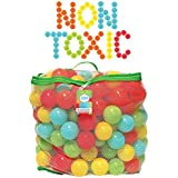 NON-TOXIC 200 Bounce House Balls - Crush Proof 6.5cm Plastic Balls for Ball Pit - Phthalate Free, BPA Free