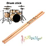 Hanbaili Drum Sticks Durable Wood Drumstick with