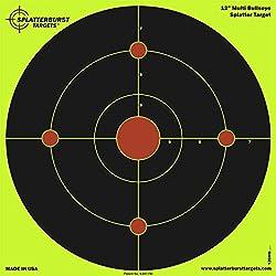 25 Pack - 12 inch Multi Bullseye - Splatterburst Shooting Targets - Gun - Rifle - Pistol - AirSoft - BB Gun - Pellet Gun - Air Rifle