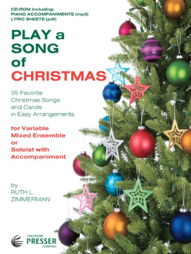 Play A Song Of Christmas - 35 Favorite Christmas Songs and Carols In Easy Arrangements (CD-Rom: includes piano accompaniment, lyrics and pritable PDF of piano sheet music)