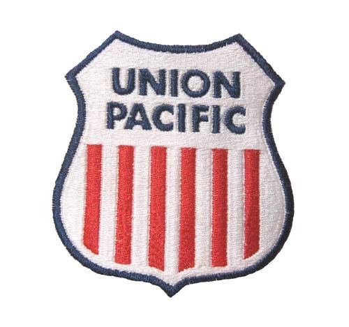 Union Pacific Railroad Novelty Logo Patch Collectible Transportation Classic Iron-On Emblem