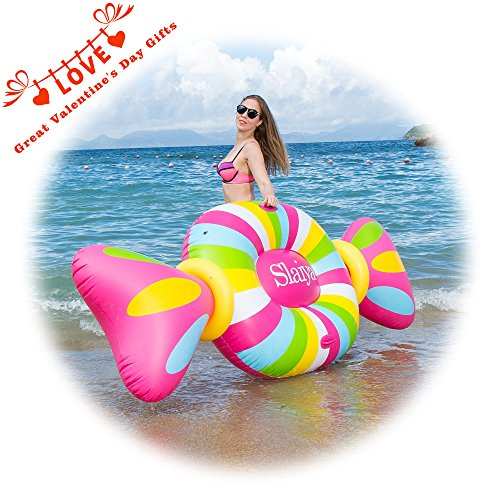 Inflatable Pool Float Pool Rafts Inflatable Lounger Swimming Toy with Rapid Valves Candy Decorations for Adults (Big Kid Candy)