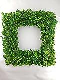 "Preserved Boxwood Square Wreath - 17"""