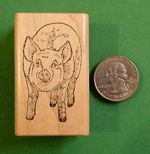 Porky the Pig - Wood Mounted Rubbe Stamp