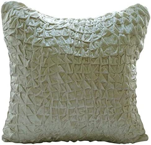 """Ivory 14/""""x14/"""" Faux Suede Pillows Covers For Couch Contemporary Light Cream"""