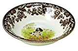 Spode Woodland Hunting Dogs English Springer Spaniel Cereal Bowl, 20cm