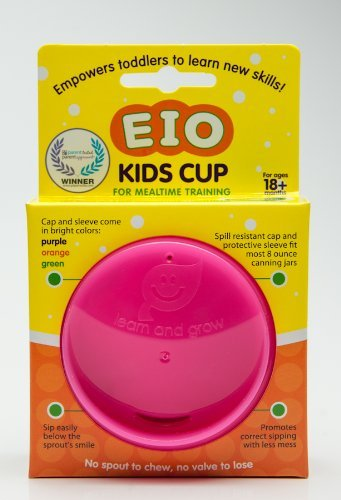 EIO Kids Cup Cap & Sleeve (Glass Jar Is Not Included) (Pink)