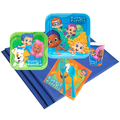 Bubble Guppies Childrens Birthday Party Supplies - Tableware Party Pack (24)