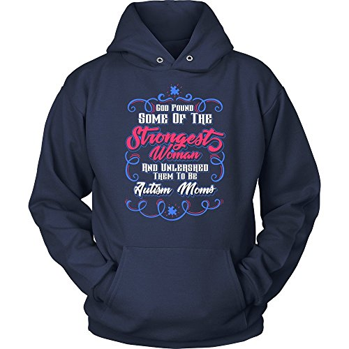 NeatFind.net God Found Some of The Strongest Woman Unleashed Them to Be Autism Moms V2 Hoodie Navy
