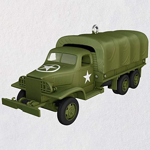 Hallmark Keepsake Christmas Ornament 2018 Year Dated, 1941 GMC CCKW, Metal, (Gmc Military Trucks)
