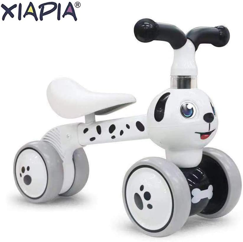 XIAPIA Baby Toddler Tricycle Bike No Pedals 10-36 Months Ride-on Toys Gifts Indoor Outdoor Balance Bike for One Year Old Boys Girls First Birthday Thanksgiving Christmas