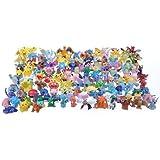 48 personnages différents Pokemon dans l'ensemble FIGURES CARTON 1-3 cm - pas un jouet - parfait pour les bas de Noël pour remplir Mini Monster Pokemon Pikachu GO Anime Manga Comic thematys®