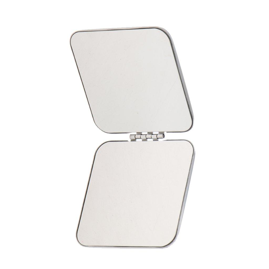 Sharplace Mini Miroir de Poche Pliable en Acier Inox Miroir Grossissant à Maquillage Miroir Cosmétique pour Voyage