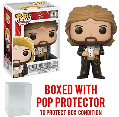 Funko Pop! WWE Million Dollar Man Ted Diabase Vinyl Figure (Bundled with Pop BOX PROTECTOR CASE) by Funko