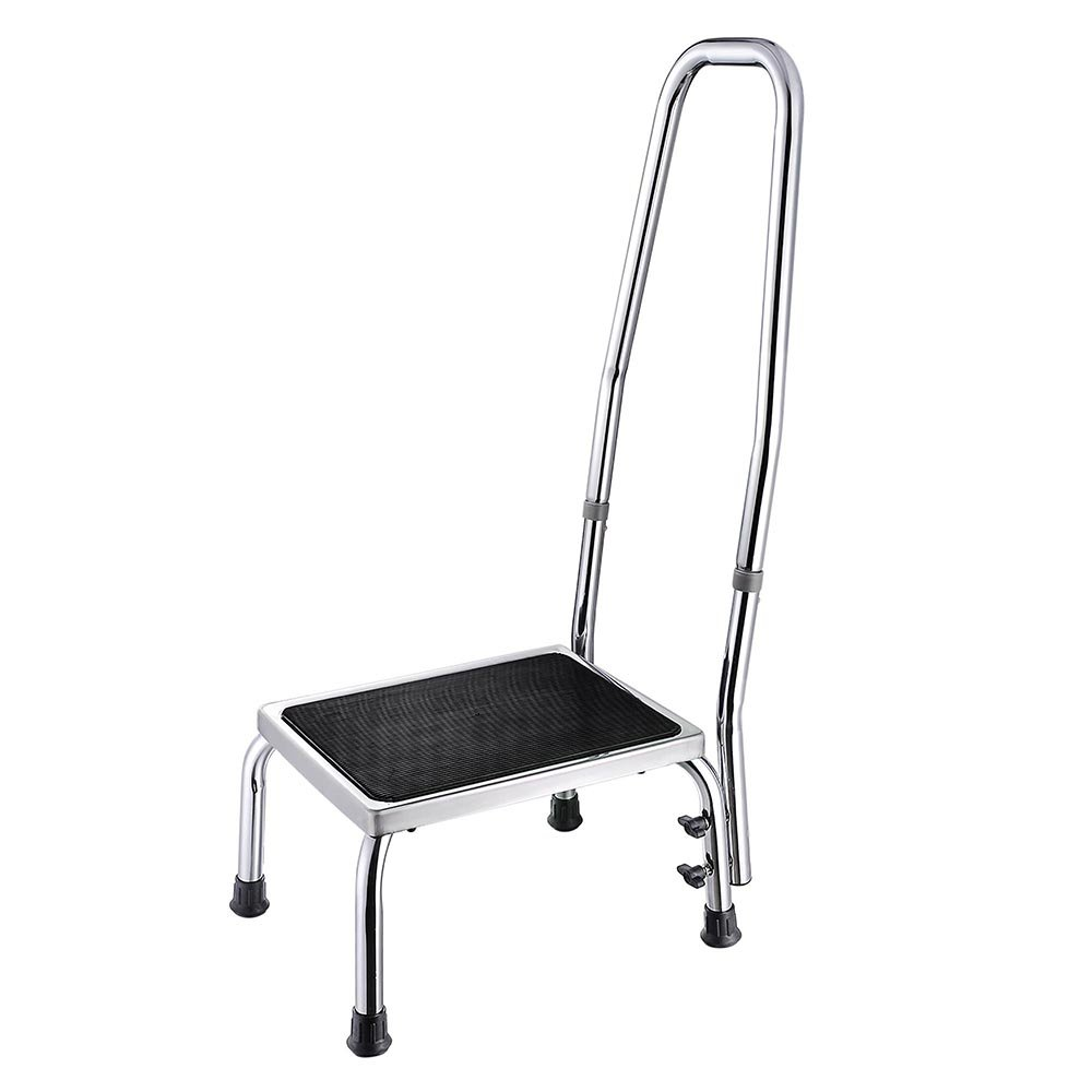 AW Medical Step Footstool W/Handle & Non Skid Rubber Platform 500lbs Weight Limit by AW