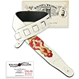 Walker & Williams CVG-05 White Leather Strap Hand Tooled & Painted Sacred Heart