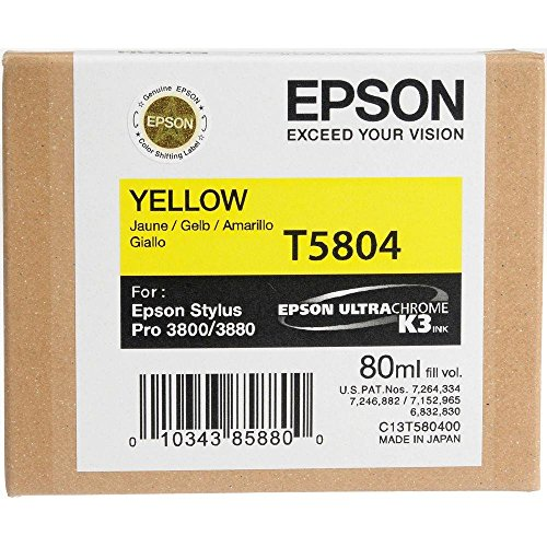 (Epson T5804 UltraChrome K3 Yellow Cartridge Ink)