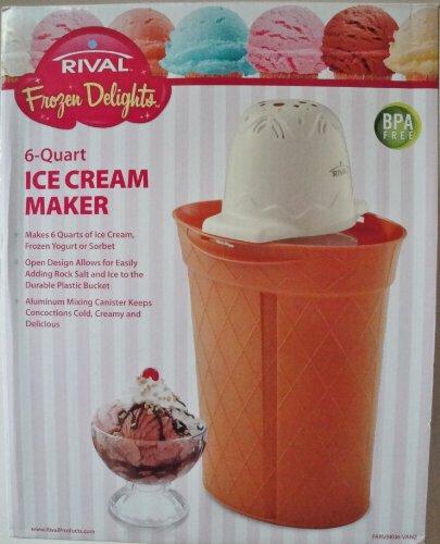 Rival 6 Quart Ice Cream Yogert Sorbet (Rival 6 Quart Ice Cream Maker)