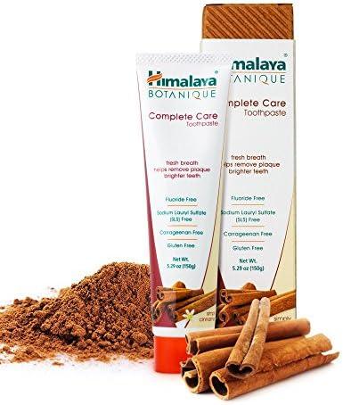 Himalaya Botanique Toothpaste - Simply Cinnamon - Natürliche Zahnpasta ohne Fluorid, SLS, Gluten und Carrageenan...