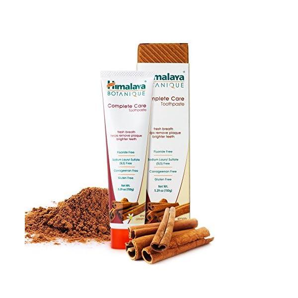 Himalaya Botanique Complete Care Simply Cinnamon Dentifrice Naturel Sans Fluorure, SLS, Gluten et Carraghénane 150 g