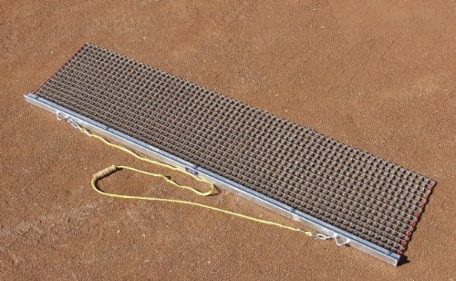 Trigon Sports Rigid Drag Mat with Drag Bar Attachment, 6-Feet x 18-Inch