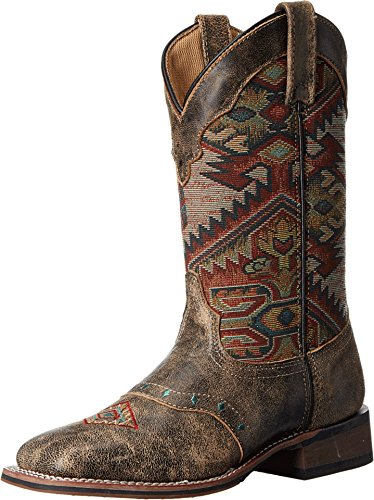 Laredo Women's Taupe With Aztec Top Boot Square Toe Taupe 7 M by Laredo (Image #3)