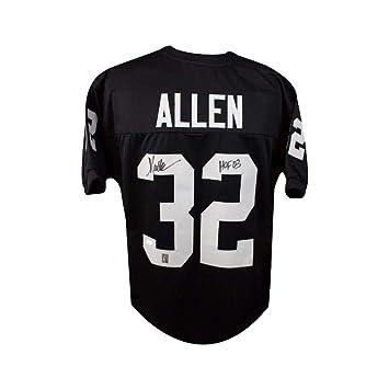 49778fee Marcus Allen HOF Autographed Oakland Raiders Custom Black Football ...
