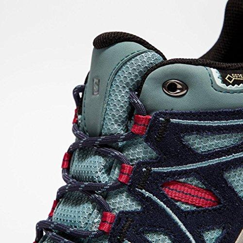 Salomon Ellipse 2 Gtx W, Zapatillas de Deporte Exterior para Mujer Azul (Artic/Navy Blazer/Sangria)
