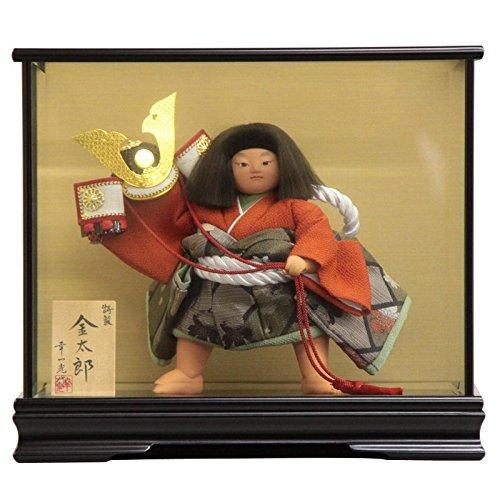 【五月人形】 ケース入り金太郎人形 特製8号 幅41cm 185to2058 幸一光 mk157 B076GYQ435