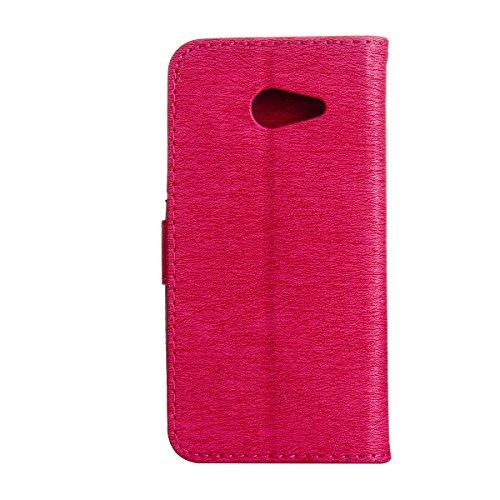 Funda Galaxy J5(2017), Funda de brillo Galaxy J5(2017), Lifetrut Sólido Shiny Sparkle Libro de Estilo de Cuero con Ranura para Tarjetas de Cierre Magnético Soporte Funda de Teléfono de la Función con  E206-Rosa