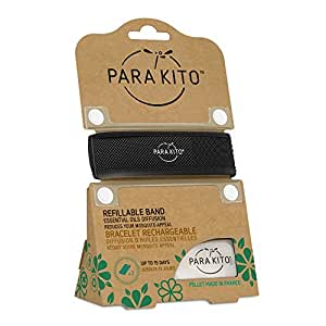 PARA'KITO Refillable Mosquito Wristband - Colour Edition (Black)