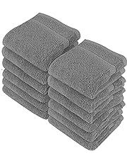 Utopia Towels - 12 luksusowych myjek, 30 x 30 cm, szare - 700 GSM 100% bawełna Najwyższej jakości flanelowe ściereczki do twarzy, bardzo chłonne i miękkie w dotyku ręczniki