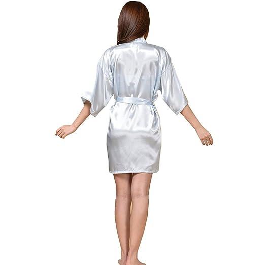 WYSMOL Ropa de Dormir Erótica para Mujer Sexy Batas y Kimonos de Satén Albornoces Cortos: Amazon.es: Ropa y accesorios