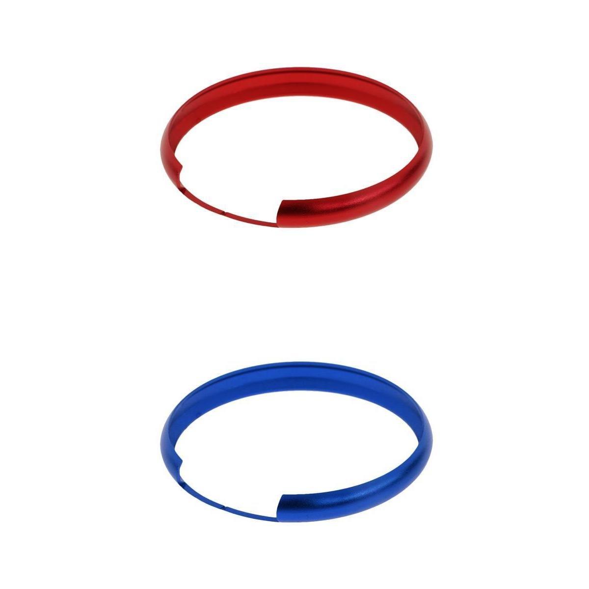 Gazechimp 2x Cubierta Anillo de FOB Protectora de Llave Remoto 45cm de Aluminio para BMW Mini Cooper #Rojo Azul