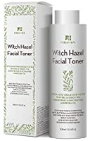 Organic Witch Hazel Facial Toner - Alcohol Free with Aloe Vera, Rose Water, Green Tea - Forest Heal Unscented Natural Face Moisturizer - Skin Toner 10.14 Oz / 300 mL from Forest Heal