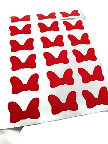 Vinyl Disney Minnie Mouse Red Bow Dot Die Cut Stickers - 25ct
