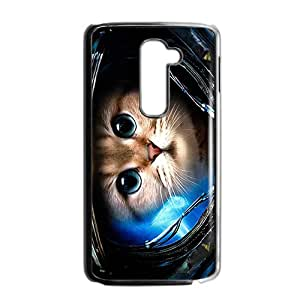 Custom Galaxy Hipster Cat Diseño Rubber Protection Case Skin For LG G2