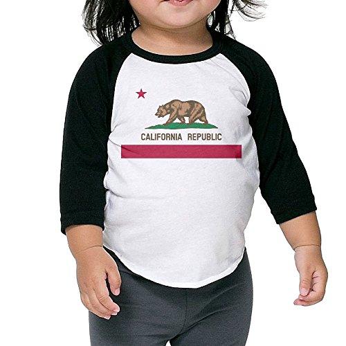 Saroyan Flag Of California Baby Raglan T-Shirts Baseball Tee 3/4 Sleeve 3 - Glasses Blake Lively