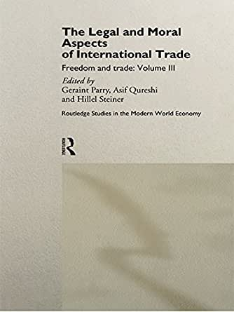 the legal international trade International trade law (5014): (formerly law 285) the wto is a remarkably successful international institution, with perhaps the most effective dispute resolution system of any international organization this course will survey the law and policy of the wto system and related legal regimes.