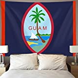 GLORY ART US Flag GUAM Wall Tapestry Hippie Art Tapestry Wall Hanging Home Decor Extra large tablecloths 60x70 inches For Bedroom Living Room Dorm Room