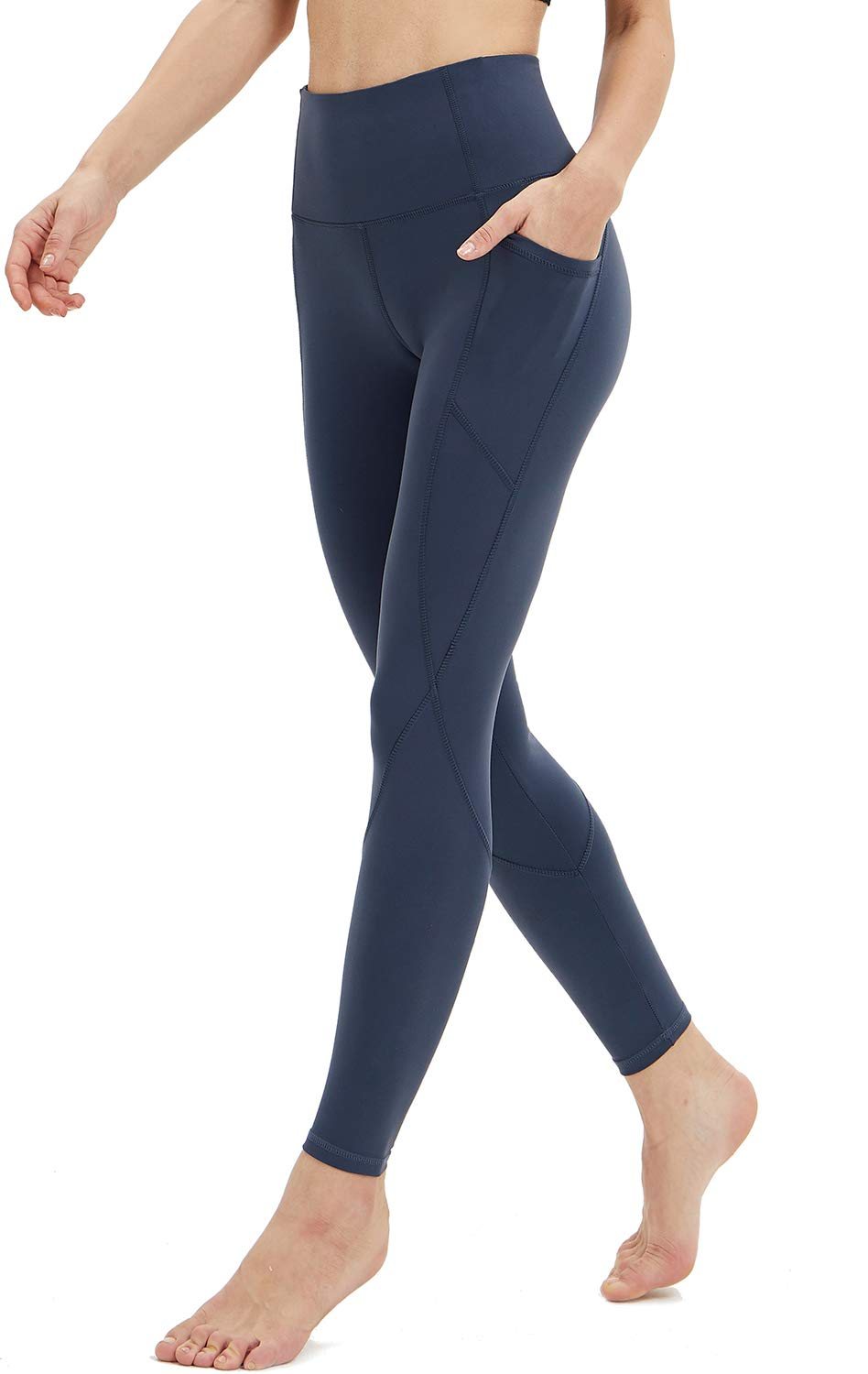 Persit Womens Premium Yoga Pants with Side /& Inner Pockets Non See-Through Tummy Control 4 Way Stretch High Waist Leggings