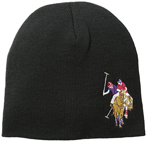 us-polo-assn-mens-solid-beanie-black-one-size