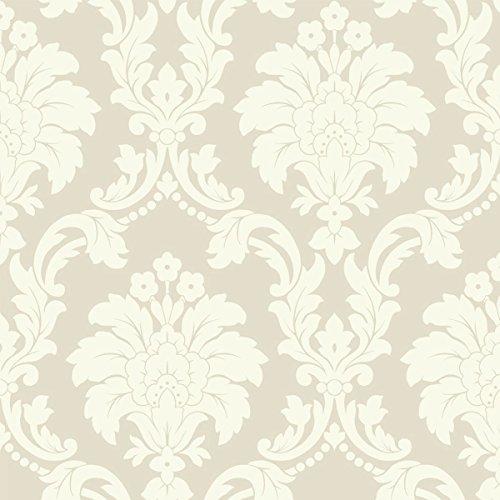 Romeo Damask Wallpaper - Cream - Arthouse 673502