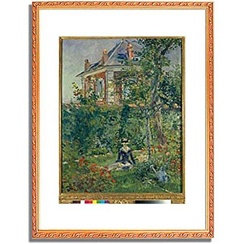 エドゥアールマネ Edouard Manet「A Garden Nook at Bellevue. 1880 」 インテリア アート 絵画 プリント 額装作品 フレーム:装飾(金) サイズ:L (412mm X 527mm) B00NKTH68C 3.L(412mm X 527mm)|4.フレーム:装飾(金) 4.フレーム:装飾(金) 3.L(412mm X 527mm)