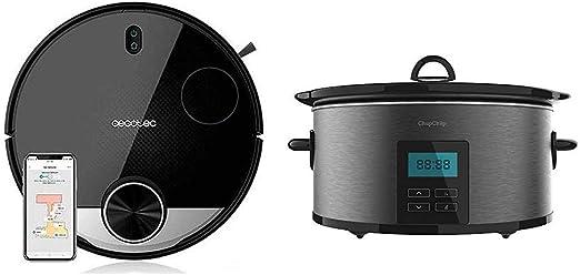 Cecotec Robot Aspirador Conga Serie 3290 Titanium + Chup Chup Olla de cocción Lenta de 5: Amazon.es: Hogar