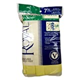 Royal AR10125 Type V SR30015 Canister Vacuum Cleaner Bags 7pk + 1 Filter, Genuine Royal-Aire Bags, Part AR10125 by Royal