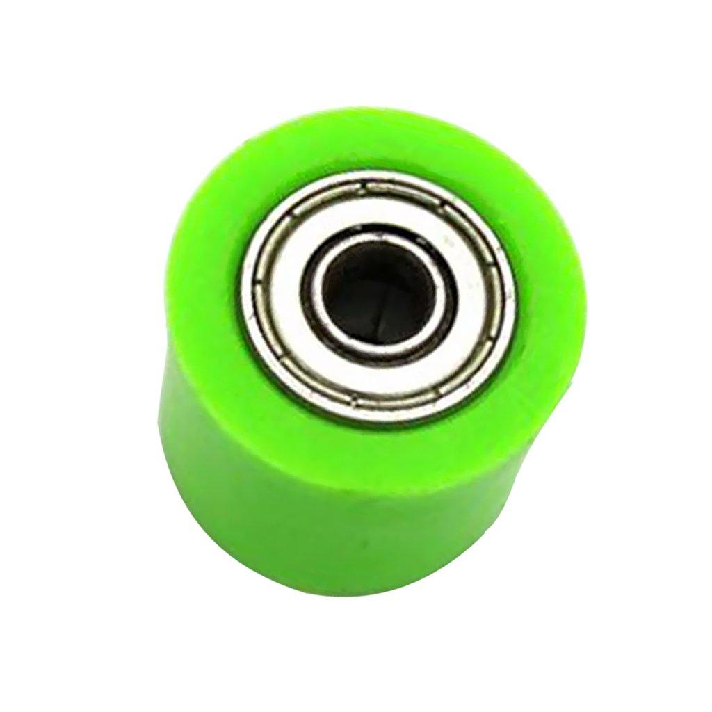 MagiDeal Rodillo de Cadena de 8mm Diá metro Interno para Mantenerla Alineada de CRF YZF KTM RMZ KLX Vehí culos - Verde