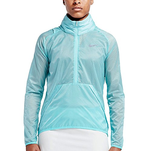 Nike Golf Women's Hyperadapt 1/2 Zip Jacket Copa/Rio Teal/Reflective Silv 802937 466
