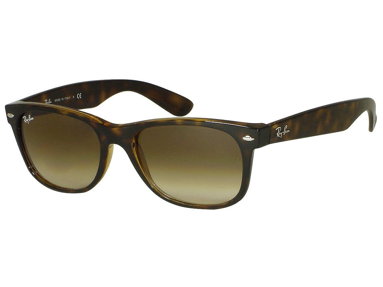 0432afdbe6 Ray Ban RB2132 New Wayfarer 710 51 Havana Sunglasses 55mm  Amazon.co.uk   Clothing
